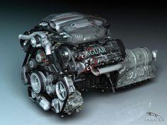 Jaguar powerful engine