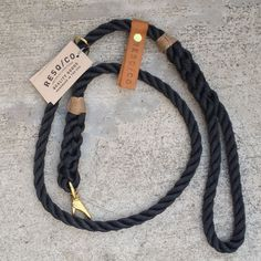 "Rope Leash / RESQ Leash ""The Strong"" Rope Dog Leash (BLK)"