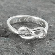 Infinity ring knot maid of honor gift maid of honor by JubileJewel