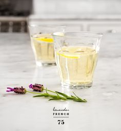 Lavender French 75 (GIN and CHAMPAGNE)
