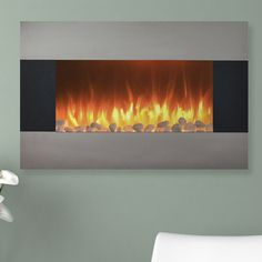 Found it at Wayfair - Steel Electric Fireplace