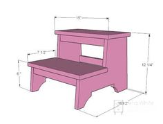 Woodworking For Kids Ana White step stool diy. Kids Woodworking Projects, Woodworking Furniture, Custom Woodworking, Diy Wood Projects, Furniture Plans, Woodworking Plans, Diy Furniture, Woodworking Joints, Woodworking Videos