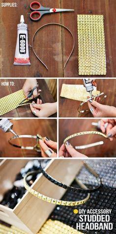 DIY:Studded Headband | DIY & Crafts Tutorials