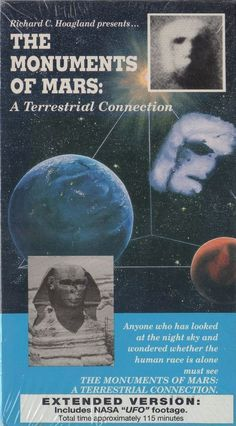 """The Monuments of Mars A Terrestrial Connection VHS Videotape. """"Anyone who has looked at the night sky and wondered whether the human race is alone must see this film."""""""