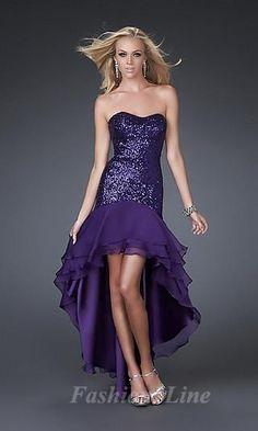 purple dress .. High/low...i like the cut