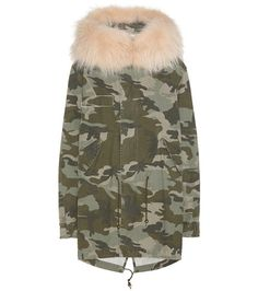 Mr & Mrs Italy Midi Printed Cotton Parka With Fur For Spring-Summer 2017