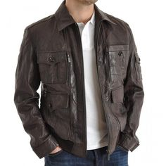 Catch latest discounts on stunning leather #jackets for men