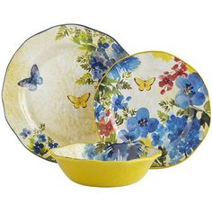 At first glance, you'll think our Butterfly Floral dinnerware is handcrafted of porcelain with its gorgeous detail and irregular edges. But pick up a piece and you'll discover it's actually made of melamine, which means it's shatterproof and perfect for outdoor use. Watch your guests' eyes flutter open in surprise at your next alfresco dinner party.