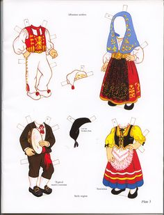 Italian Girl and Boy Paper Dolls (Sofi & Ernesta) / Kathy Allert, Dover of Italian Party Decorations, Paper Toys, Paper Crafts, Usa Culture, Eslava, Costumes Around The World, World Thinking Day, Vintage Paper Dolls, Italian Girls