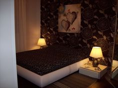 Particular #bedroom with very #beautiful bed