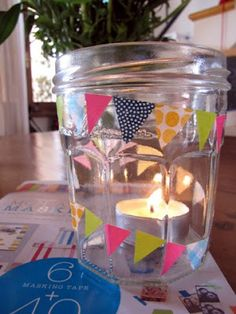 Un vasetto e... i masking tape! * (A jar and ... the masking tape!)