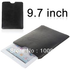 Free shipping Universal Leather Pouch Sleeve case for 9.7inch Android Tablet PC ipad, Onda V972, novo9 $6.99