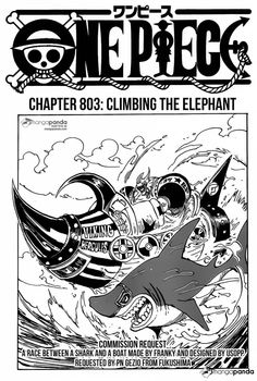 shintigercurl reacts to one piece, chapter 803:  CLIMBING THE ELEPHANT