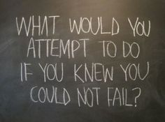 what would you attempt to do if you knew you could not fail | Tumblr