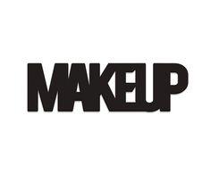 Placa de Madeira Estampada Make Up