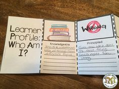 Interactive notebooks - Have students create a learner profile the first week of school - perfect for international baccalaureate schools!