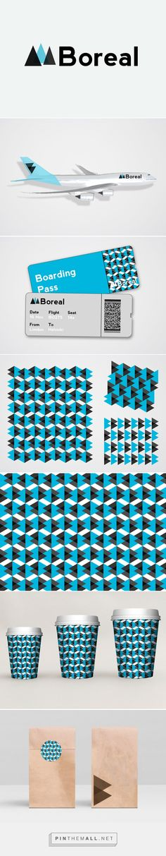 'Boreal' Nordic airline design, branding -Behance #graphicdesign #branding…