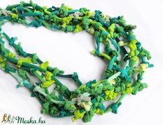 Zöld özön nyaklánc textilből (colorosa) - Meska.hu