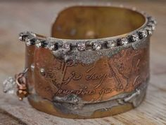 Metal Etching Safety, Tips, Loads of Inspiring Etched-Jewelry Projects + an Awesome Kit - Jewelry Making Daily (Helena and Constantius etched cuff bracelet from Making Etched Metal Jewelry)