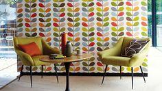 Terug naar de jaren 70 met het behang en producten van Orla Kiely