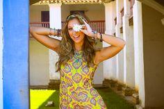 Luisa Meirelles para Avonts Rio #gypsy #boho #avonts #summer #kimono #fashion #editorial #cartagena #avonts #luisa meirelles #bohemian #macaquinho #yellow #print #estampa #flower
