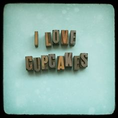 I Love Cupcakes  Fine Art Photograph  Teal by kittyrogers on Etsy