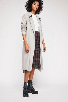 Sierra Wool Coat - Gray Long Fur Coat Long Fur Coat, Free People Store, Wool Coat, Dusty Pink, Wool Blend, Boho Fashion, Heather Grey, Duster Coat, Style Inspiration