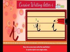 Cursive Letter Writing for Children - small letter i - Kids Educational Videos