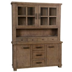 The Caleb Hutch offers more than just great style. It provides endless organizational and storage opportunities. A plethora of drawers, doors, and cubbies will ensure that every last item will rest sa