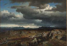 Norwegian mountains - Hans Fredrik Gude