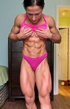 A picture of Karina Akmens. This site is a community effort to recognize the hard work of female athletes, fitness models, and bodybuilders. Chico Fitness, Love Fitness, Muscle Fitness, Women's Fitness, Fitness Women, Workout Fitness, Sexy Posen, Shredded Body, Bikini