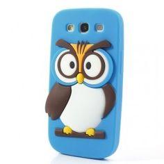 Galaxy S3 sininen pöllö silikonisuojus. Samsung Galaxy S3, Chicken