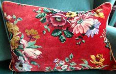 Velvet Eccentric cushion in vintage floral velvet