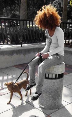 Love the look and the dog too!