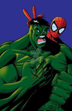 #Hulk #Fan #Art. (Hulk and Spidey) By: Darkdaysartist. ÅWESOMENESS!!!™ ÅÅÅ+