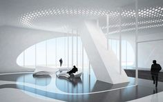 zaha hadid& one thousand museum brings boldness to the miami skyline in her first residential building design in the united states. Zaha Hadid Architektur, Arquitectos Zaha Hadid, Zaha Hadid Design, Futuristisches Design, Lobby Design, Design Ideas, Futuristic Interior, Futuristic Design, Zaha Hadid Interior