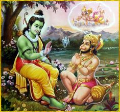 """☀ SHRI RAM ॐ ☀ """"Only the purified soul can attain the perfection of associating with the Personality of Godhead in complete bliss and satisfaction in his constitutional state. Hanuman Photos, Shri Hanuman, Hindu Art, Sacred Art, Hinduism, Princess Zelda, God, Fictional Characters, Bliss"""