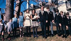 Ethel and Bobby Kennedy, with their children, at their home Hickory Hill in McLean, Virginia.