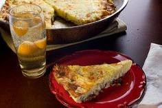 The classic quiche Lorraine—with ham, onions, and Swiss cheese—loses its crust and becomes a frittata. Brunch Dishes, Brunch Recipes, Fall Recipes, Breakfast Recipes, Brunch Ideas, Breakfast Time, Breakfast Casserole, Breakfast Ideas, Dinner Ideas