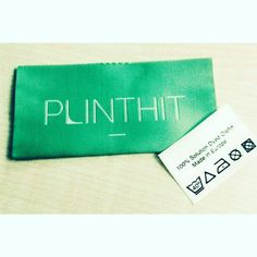 We care about the small things.  PLINTHIT brandlabel and carelabel #brandlabel #carelabel #plinthitdk