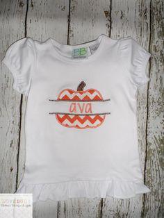 Adorable monogrammed pumpkin shirt