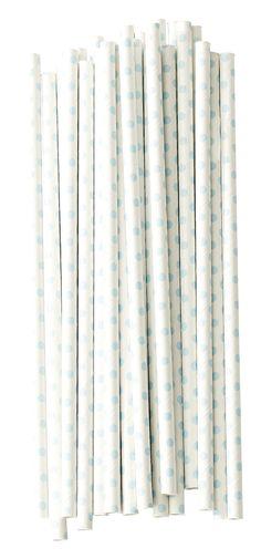 מארז של 25 קשים מנייר-לבן עם נקודות טורקיז