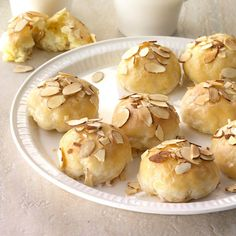 Pastry Recipes, Cookie Recipes, Cookie Ideas, Almond Pastry, Almond Bars, Almond Toffee, Almond Chocolate, Peppermint Chocolate, Almond Tea