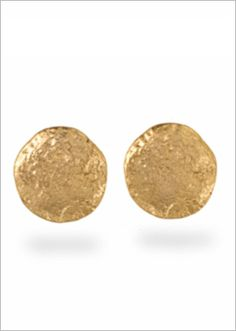 Erwin Pearl Molten Gold Round Disc Earring