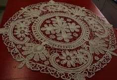 Romanian Point Lace Table Center Piece by ChestTreasures on Etsy