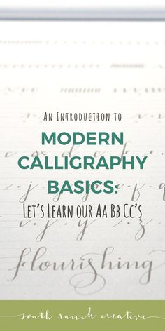 In this third and final lesson for beginner modern calligraphy, you will learn your uppercase and lowercase alphabet as well as some tips just for fun!