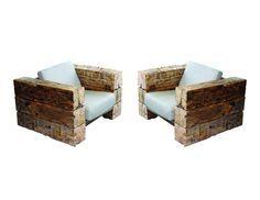 Reclaimed Hand Hewn Beam Chairs