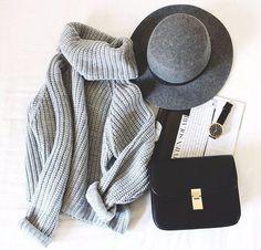 стиль, Селин, мода, серый, комплект одежды