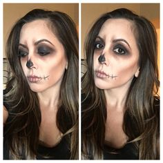 Easy Skull Halloween Makeup #halloweenmakeup #skull