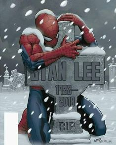 Legendary Marvel Comics co-creator Stan Lee — famous for giving the world beloved superheroes including Spider-Man, Iron Man and the Incredible Hulk — died Monday. He was According to TMZ, Lee suffered a number of illnesses over the last year Marvel Avengers, Marvel Memes, Stan Lee Died, Image Manga, Bd Comics, Marvel Comics Art, Marvel Wallpaper, Comic Character, Marvel Cinematic Universe